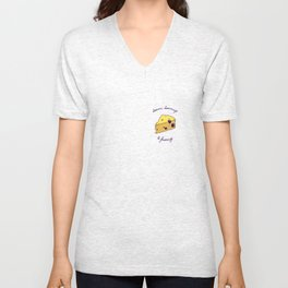 DOMMI-DOMMAGE (le fromage) Unisex V-Neck