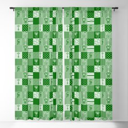 Jungle FriendsShades of Green Cheater Quilt Blackout Curtain