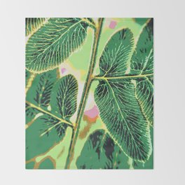 party fern Throw Blanket