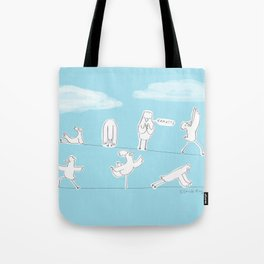 Bird Yoga Tote Bag
