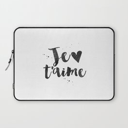 FRENCH WALL DECOR, Je T'aime,I Love You,French Quote,French Saying,Love Quote,Love Art,Gift For Her, Laptop Sleeve