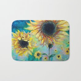 Supermassive Sunflowers Bath Mat