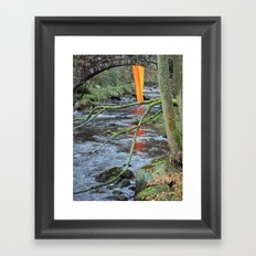 Orange Reflection Series - Gibson Mill 1 Framed Art Print