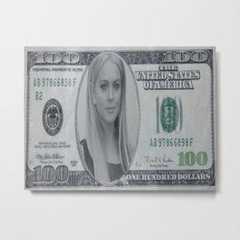 Lindsay Lohan money Metal Print