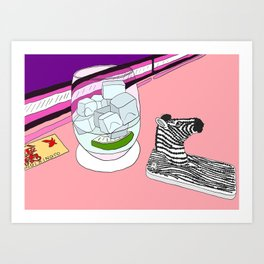 Zebra Phone in Tokyo Roppongi Art Print