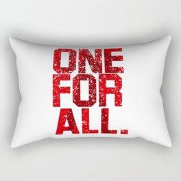 one for all Rectangular Pillow