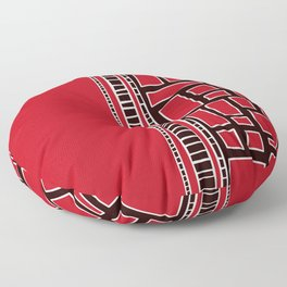 Red Squares Floor Pillow