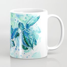 Turquoise Blue Sea Turtles in Ocean Coffee Mug