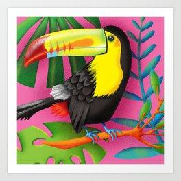 Toucan Tropic Art Print