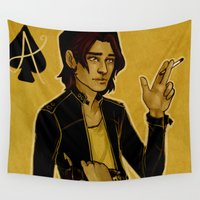ace Wall Tapestries featuring Ace of Spades by cargline