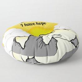While I Breathe, I Hope Floor Pillow