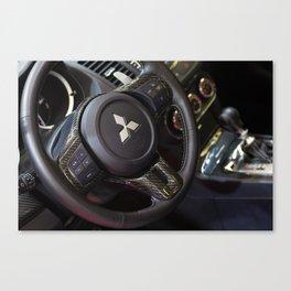 Mitsubishi Lancer Evolution X Wheel Canvas Print