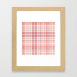 Pink Plaid Framed Art Print