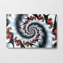 Fractal Art - Fire and Ice Metal Print