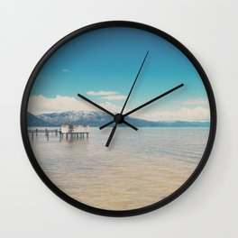 Lake Tahoe II photograph Wall Clock