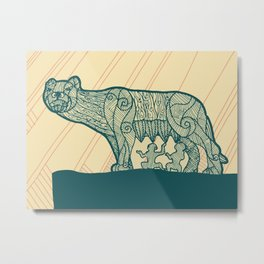 Rome-The Mother Wolf Metal Print