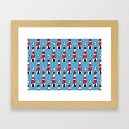 light-house blue Framed Art Print