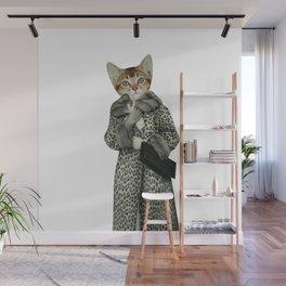Kitten Dressed as Cat Wall Mural