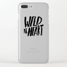 Wild at Heart x Black and White Clear iPhone Case