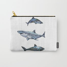 Four Sharks - by Fanitsa Petrou Carry-All Pouch