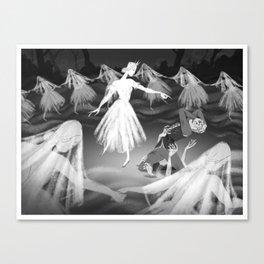 Death of Hilarion Canvas Print