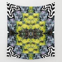 succulents Wall Tapestries featuring Succulents by saralynn