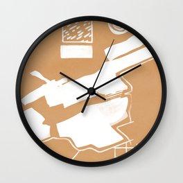 Abstract shapes minimal print Wall Clock