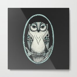 Old Owl Metal Print