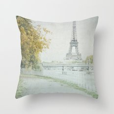 Letters From Cygnes - Paris Throw Pillow