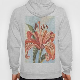 Orange Tiger Lily Watercolor Painting Hoody