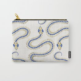 Snake Skeleton – Navy & Gold Palette Carry-All Pouch