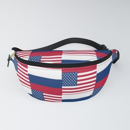 Mix of flag : Usa and russia Fanny Pack