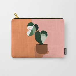 Variegated Monstera Carry-All Pouch
