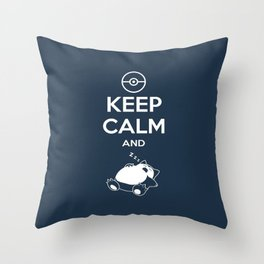 keep calm and snorlax Throw Pillow