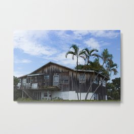 Old house at the Big City Metal Print