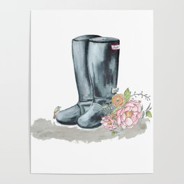Spring Rain Boots Poster