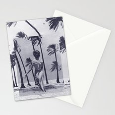 Tropical Storm in Purple Stationery Cards