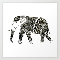 My Friend Elephant Art Print