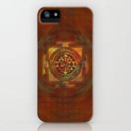 Colorful Sri Yantra  / Sri Chakra iPhone Case