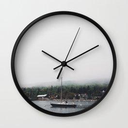 Sailboat and the Fog Wall Clock