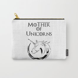 MK Mother of Unicorns (Black) Carry-All Pouch