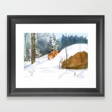 Which Way Did He Go? Framed Art Print
