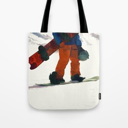 Ready to Ride! - Snowboarder Tote Bag