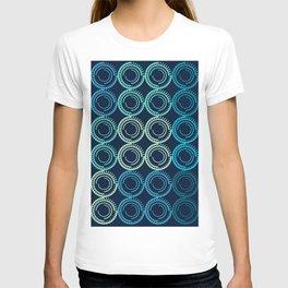 Blue Circles Abstract Pattern T-shirt