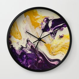 """""""Geaux Tigers"""" by Laurie Ann Hunter Wall Clock"""
