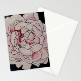 Stained Glass Peony Stationery Cards