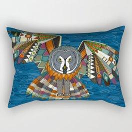 night owl blue Rectangular Pillow