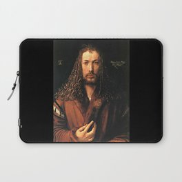 Self-Portrait in a Fur-Collared Robe Laptop Sleeve