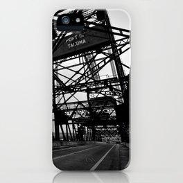 Port of Tacoma 11th St. Bridge iPhone Case