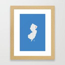 New Jersey Love Framed Art Print